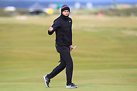 Lucas Bjerregaard (DEN) on the 16th green during round 4 of the Alfred Dunhill Links Championship at Old Course St. Andrew's, Fife, Scotland. 07/10/2018.<br /> Picture Thos Caffrey / Golffile.ie<br /> <br /> All photo usage must carry mandatory copyright credit (&copy; Golffile | Thos Caffrey)