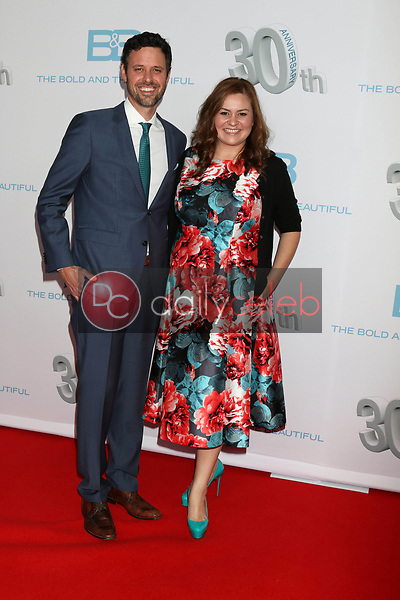 """Brian McDaniel, Anjelica McDaniel<br /> at the """"The Bold and The Beautiful"""" 30th Anniversary Party, Clifton's Downtown, Los Angeles, CA 03-18-17<br /> David Edwards/DailyCeleb.com 818-249-4998"""
