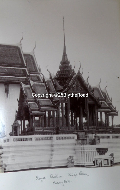 BNPS.co.uk (01202 558833)<br /> Pic: 25BlytheRoad/BNPS<br /> <br /> The Royal Pavillion in the Kings Palace in Bangkok.<br /> <br /> Stunning 125 year-old pictures of Thailand which showcase the tropical paradise long before it became a tourist hot-spot have emerged.<br /> <br /> The collection of photographs from the early 1890s include images of the King's birthday celebrations in 1892, the King's palace and the Bangkok architecture.<br /> <br /> Also included in the collection are photographs of Hong Kong under British crown rule in 1895 including of British seamen, the Hong Kong cricket team and the native army.<br /> <br /> The photo album will go under the hammer on January 25 and is tipped to sell for £1,500.<br /> <br /> The owner of the album is believed to have been a member of the Royal Engineers or connected with them.<br /> <br /> The fascinating photos provide a snapshot of Thailand under the rule of King Chulalongkorn.<br /> <br /> He was the first Siamese king to have a full western education, having been taught by British governess Anna Leonowens whose memoirs were transported to the silver screen in the famous film The King and I.