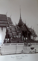 BNPS.co.uk (01202 558833)<br /> Pic: 25BlytheRoad/BNPS<br /> <br /> The Royal Pavillion in the Kings Palace in Bangkok.<br /> <br /> Stunning 125 year-old pictures of Thailand which showcase the tropical paradise long before it became a tourist hot-spot have emerged.<br /> <br /> The collection of photographs from the early 1890s include images of the King's birthday celebrations in 1892, the King's palace and the Bangkok architecture.<br /> <br /> Also included in the collection are photographs of Hong Kong under British crown rule in 1895 including of British seamen, the Hong Kong cricket team and the native army.<br /> <br /> The photo album will go under the hammer on January 25 and is tipped to sell for &pound;1,500.<br /> <br /> The owner of the album is believed to have been a member of the Royal Engineers or connected with them.<br /> <br /> The fascinating photos provide a snapshot of Thailand under the rule of King Chulalongkorn.<br /> <br /> He was the first Siamese king to have a full western education, having been taught by British governess Anna Leonowens whose memoirs were transported to the silver screen in the famous film The King and I.