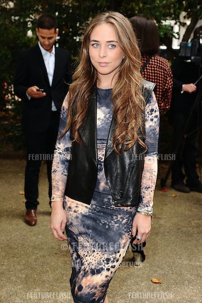 Chloe Green arriving at the Unique catwalk show as part of London Fashion Week SS13, Top Shop Venue, Bedford Square, London. 16/09/2012 Picture by: Steve Vas / Featureflash