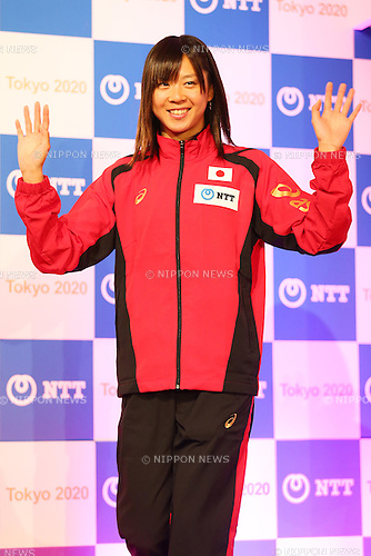 Yuka Sato,<br /> JANUARY 26, 2015 : <br /> NTT corporation has Press conference at Hotel Okura Tokyo.<br /> NTT corporation today announced that it has entered into a partnership agreement with the Tokyo Organising Committee of the Olympic and Paralympic Games.<br /> (Photo by Shingo Ito/AFLO SPORT)