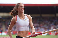 Katerina Stefanidi (Greece) competing in the pole vault during the Muller Grand Prix  IAAF Diamond League meeting at Alexander Stadium, Perry Barr, Birmingham.<br /> Picture by Alan Stanford +44 7915 056117<br /> 18/08/2018