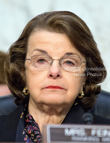United States Senator Dianne Feinstein (Democrat of California) listens as Judge Neil Gorsuch testifies before the United States Senate Judiciary Committee on his nomination as Associate Justice of the US Supreme Court to replace the late Justice Antonin Scalia on Capitol Hill in Washington, DC on Tuesday, March 21, 2017.<br /> Credit: Ron Sachs / CNP