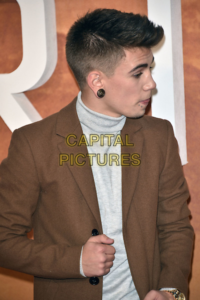 LONDON, ENGLAND, SEP 24: Jake Sims at the European Premiere of 'The Martian' at Odeon Leicester Square, on September 24th 2015 in London, England<br /> CAP/PL<br /> &copy;Phil Loftus/Capital Pictures