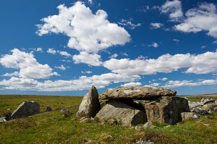Caves of Kilhern, chambered neolithic burial cairn on Kilhern Moss near New Luce, Galloway, UK