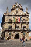 Espagne, Navarre, Pampelune, l'Hôtel de ville  // Spain, Navarra, Pamplona, Town Hall