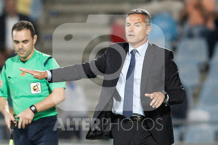 Getafe's coach Fran Escriba during La Liga match.September 18,2015. (ALTERPHOTOS/Acero)