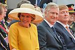 Ceremony of the bicentenary of the Battle of Waterloo. Waterloo, 18 june 2015, Belgium<br /> Pics: King Philippe of Belgium, Queen Mathilde of Belgium