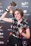 Carla Simon receives the Best Screenplay Award during Feroz Awards 2018 at Magarinos Complex in Madrid, Spain. January 22, 2018. (ALTERPHOTOS/Borja B.Hojas)