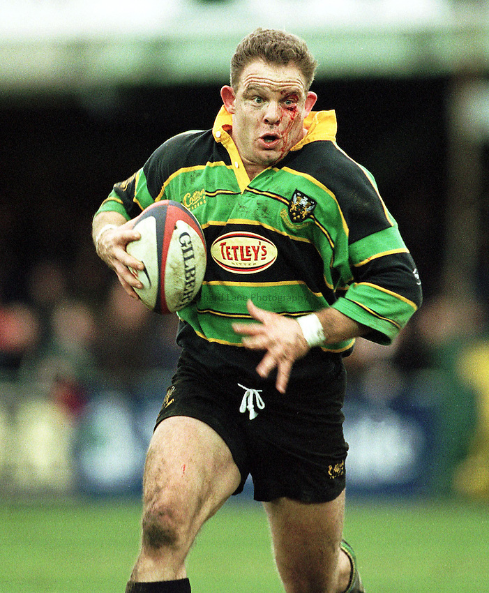 Photo: Ken Brown.6.2.99  Northampton v Saracens.Harvey Thorneycroft