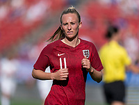 FRISCO, TX - MARCH 11: Toni Duggan #11 of England sprints during a game between England and Spain at Toyota Stadium on March 11, 2020 in Frisco, Texas.