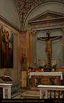 Crucifixion Chapel 15th c wooden crucifix Icon of St Nicholas of Myra San Nicola in Carcere Rome