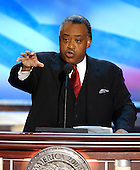 Boston, MA - July 29, 2004 -- Reverend Al Sharpton speaks to the 2004 Democratic National Convention in Boston, MA on July 28, 2004..Credit: Ron Sachs / CNP