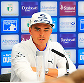 Rickie FOWLER (USA) speaks to the media ahead of the 2017 Aberdeen Asset Management Scottish Open played at Dundonald Links from 13th to 16th July 2017: Picture Stuart Adams, www.golftourimages.com: 12/07/2017