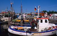 Fischereihafen in Travemünde, Schleswig-Holstein, Deutschland