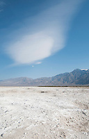 Clouds over Salt Lake in Saline Valley, Death Valley National Park, California