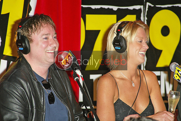 Frosty Stilwell and Heidi Hamilton<br />at the annual KLSX FM Talk Think Tank. Dave and Busters, Irvine, CA. 09-29-05<br />Jason Kirk/DailyCeleb.com 818-249-4998