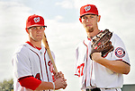 25 February 2011: Washington Nationals' top draft picks Bryce Harper and Stephen Strasburg pose for a Photo Day image at Space Coast Stadium in Viera, Florida. Mandatory Credit: Ed Wolfstein Photo