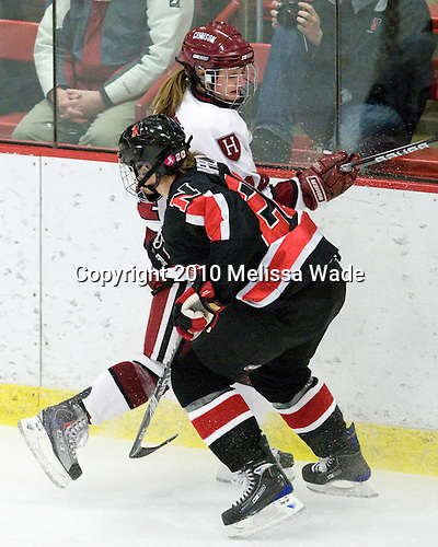 Leanna Coskren (Harvard - 24), Katy Applin (NU - 20) - The Harvard University Crimson defeated the Northeastern University Huskies 1-0 to win the 2010 Beanpot on Tuesday, February 9, 2010, at the Bright Hockey Center in Cambridge, Massachusetts.