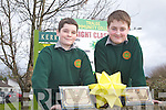 KERRY COUNTY ENTERPRISE: Conor Heaslip and Paul McCarthy students of Tralee Community College who received the Junior runner up and most enterprise student for their Paulorigami at the Kerry Student Enterprise Awards at the IT Tralee on Thursday.