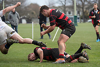 Action from the Canterbury Metro premier rugby union match between High School Old Boys and Christchurch at Bob Deans Field in Christchurch, New Zealand on Saturday, 1 August 2020. Photo: Joe Johnson / lintottphoto.co.nz