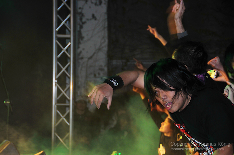 Chthonic Concert, Kaohsiung -- Fans going wild at a Chthonic concert in Kaohsiung.