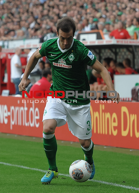 17.08.2013, Weserstadion, Bremen, GER, 1.FBL, Werder Bremen vs FC Augsburg, im Bild Luca Caldirola (Bremen #3)<br /> <br /> Foto &copy; nph / Frisch