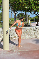 www.acepixs.com<br /> <br /> April 20 2017, Miami<br /> <br /> Star of French reality show Secret Story 9 and winner of the brunette girl of the year 2016 for Playboy Italy Claudia Romani frolicks on the beach on April 20 2017 in Miami, FL. <br /> <br /> By Line: Solar/ACE Pictures<br /> <br /> ACE Pictures Inc<br /> Tel: 6467670430<br /> Email: info@acepixs.com<br /> www.acepixs.com
