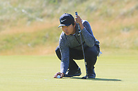 Rak Hyun Cho (KOR) on the 18th during Round 1 of the Dubai Duty Free Irish Open at Ballyliffin Golf Club, Donegal on Thursday 5th July 2018.<br /> Picture:  Thos Caffrey / Golffile