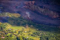 PAHOA, HI - June 2, 2018:  Lava Flows pictured at Hawaii's Kilauea Volcano in Pahoa, HI on June 2, 2018. <br /> CAP/MPI/EKP<br /> &copy;EKP/MPI/Capital Pictures