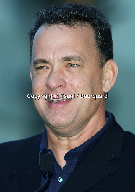 Tom Hanks at the  Hollywood Walk of Fame honors director Robert Zemeckis. The Star is in front of Grauman's Chinese Theatre in Hollywood Blvd, Los Angeles.