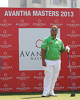 Kiradech Aphibarnrat (THA) on the 1st tee during Round 4 of the 2013 Avantha Masters, Jaypee Greens Golf Club, Greater Noida, Delhi, 17/3/13..(Photo Jenny Matthews/www.golffile.ie)