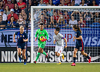 FRISCO, TX - MARCH 11: Adrianna Franch #21 of the United States carries the ball during a game between Japan and USWNT at Toyota Stadium on March 11, 2020 in Frisco, Texas.