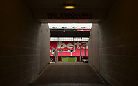 Entrance to the Britannia before the Premier League match between Stoke City and Tottenham Hotspur at the Britannia Stadium, Stoke-on-Trent, England on 7 April 2018. Photo by Bradley Collyer / PRiME Media Images.