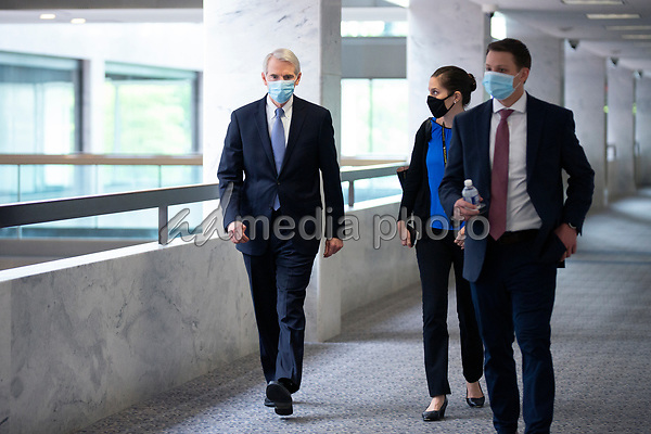 United States Senator Rob Portman (Republican of Ohio) walks to the GOP Policy Luncheons at the Hart Senate Office Building in Washington D.C., U.S. on Thursday, May 21, 2020. Credit: Stefani Reynolds / CNP/AdMedia