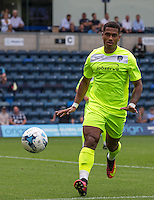 Richard Brindley of Colchester United during the Sky Bet League 2 match between Wycombe Wanderers and Colchester United at Adams Park, High Wycombe, England on 27 August 2016. Photo by Andy Rowland.