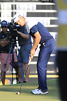 Justin Rose (ENG) birdie putt on the 17th green during Sunday's Final Round of the 2018 Turkish Airlines Open hosted by Regnum Carya Golf &amp; Spa Resort, Antalya, Turkey. 4th November 2018.<br /> Picture: Eoin Clarke | Golffile<br /> <br /> <br /> All photos usage must carry mandatory copyright credit (&copy; Golffile | Eoin Clarke)