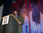 Will Lunn, Hall of Fame president, on Monday, August 29, 2005, during the 2005 National Soccer Hall of Fame Induction Ceremony in Oneonta, New York.