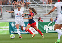 Boyds, MD - Saturday July 02, 2016: Katie Bowen, Estefania Banini during a regular season National Women's Soccer League (NWSL) match between the Washington Spirit and FC Kansas City at Maureen Hendricks Field, Maryland SoccerPlex.