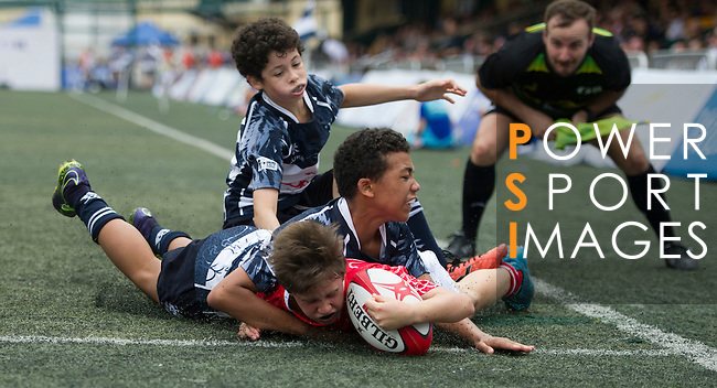 Peninsula VS Island U12  GFI HKFC Rugby Tens 2016 on 07 April 2016 at Hong Kong Football Club in Hong Kong, China. Photo by Juan Manuel Serrano / Power Sport Images