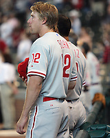 Phillies OF TJ Bohn on Saturday May 24th at Minute Maid Park in Houston, Texas. Photo by Andrew Woolley / Four Seam Images.