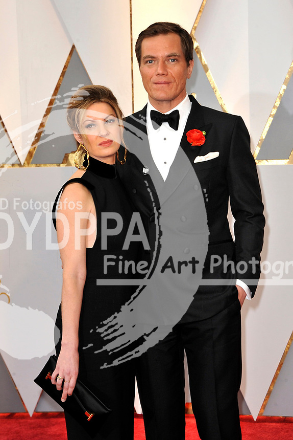 Kate Arrington and Michael Shannon attend the 89th Annual Academy Awards at Hollywood & Highland Center on February 26, 2017 in Hollywood, California.