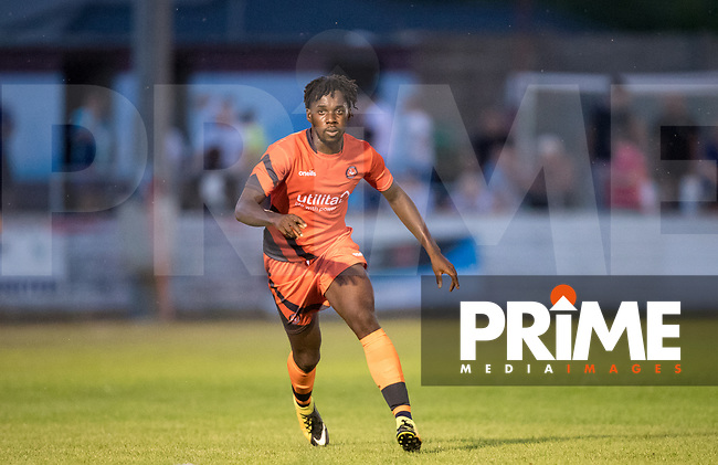 Trialist CF of Wycombe during the 2018/19 Pre Season Friendly match between Chesham United and Wycombe Wanderers at the Meadow , Chesham, England on 24 July 2018. Photo by Andy Rowland.