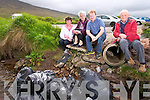Members of Curraheen Community Council from left to right, Libby O'Connor, Secretary, Julanne Murphy, Resident, Pat O'Shea, Chairperson and Christy Murphy, Resident.  Over 13 bags of rubbish were dumped over the weekend in Derrymore Strand Car Park.