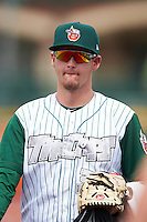 Fort Wayne TinCaps pitcher Jerry Keel (31) walks to the dugout after the second game of a doubleheader against the Great Lakes Loons on May 11, 2016 at Parkview Field in Fort Wayne, Indiana.  Great Lakes defeated Fort Wayne 5-0.  (Mike Janes/Four Seam Images)