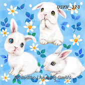 Kayomi, EASTER, OSTERN, PASCUA, paintings+++++,USKH328,#e#, EVERYDAY ,rabbits