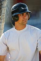 July 30 2008: Mitch Canham of the Lake Elsinore Storm before game against the High Desert Mavericks at Mavericks Stadium in Adelanto,CA.  Photo by Larry Goren/Four Seam Images