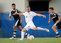 Florida International University men's soccer player Joseph Dawkins (4) plays against Nova University on August 26, 2011 at Miami, Florida. FIU won the game 2-0. .