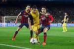 UEFA Champions League 2013/2014.<br /> Quarter-finals 1st leg.<br /> FC Barcelona vs Club Atletico de Madrid: 1-1.<br /> Busquets, Koke &amp; Bartra.